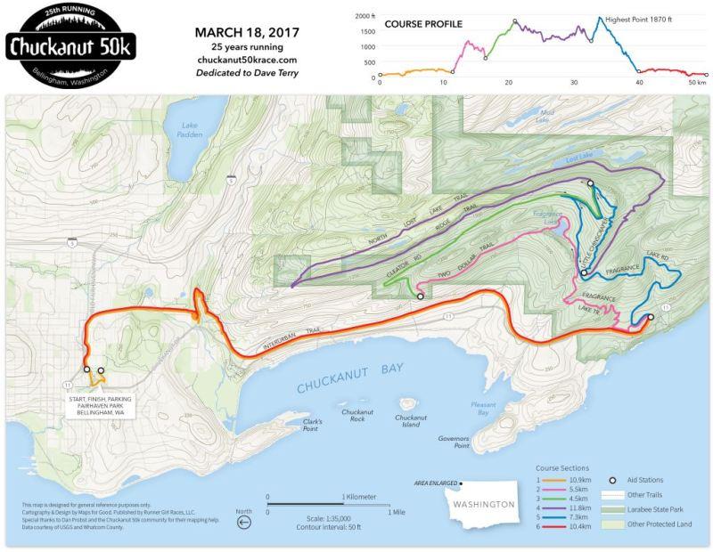 Chuckanut 50K Course 2017